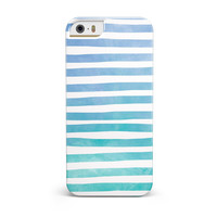 Ocean WaterColor Ombre Stripes INK-Fuzed Case for the iPhone 5/5S/SE