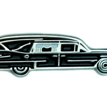 Hearse Undertaker Funeral Car Lapel Pin Gothic Jewelry Cemetery Jacket Pin