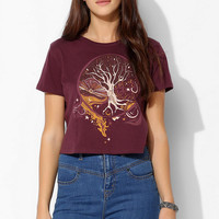 Silence + Noise Mystical Tree Cropped Tee - Urban Outfitters
