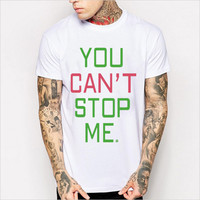 Hot Sale Alphabet Print Cotton Short Sleeve Men Summer T-shirts [6541133251]