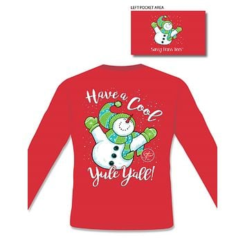 Yule Y'all Snowman Holiday - Adult - Long Sleeve