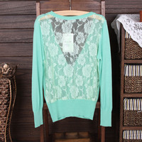 Openwork lace sweater JCEI
