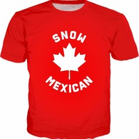 Snow Mexican T-Shirt - Funny Canadian Canada Meme