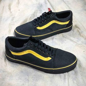 Opening Ceremony x Vans Old Skool Satin VNOA36C9NX8 Black Yellow Shoes