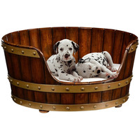 Walnut Wooden Dog Bed