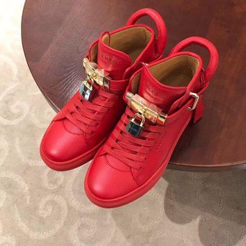 BUSCEMI men Fashion High Top Casual Sneaker Running sport Shoes good Quality red shoes for mens
