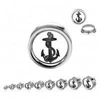 Anchor Mirror Plug - Plugs - Jewelry Online Store