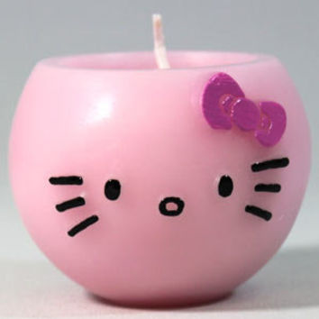 Pink Hello Kitty Aroma Candle Strawberry Scent