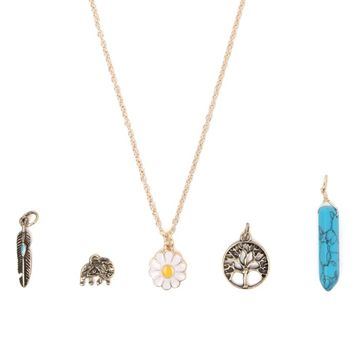 With Love From CA Boho Interchangeable Necklace Set - Womens Jewelry - Gold - One