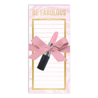 Pink Marble Magnetic List Pad