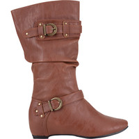 De Blossom Amar Womens Boots Cognac  In Sizes