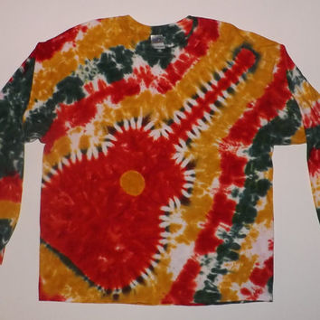 2XL Custom Long Sleeve Tie Dye T-Shirt - Choose Any Design & Any Colors