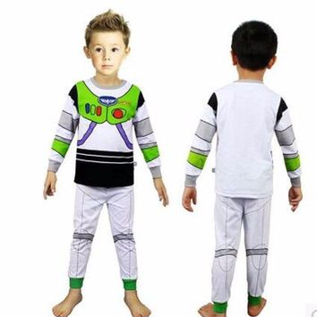 Toy Story I Am Buzz Lightyear Cosplay Kids Children Costume Halloween Dress-up