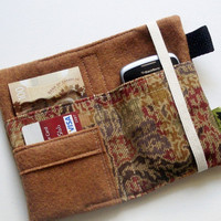 Tapestry wallet , iPhone wallet, natural wallet, iphone 5, blackberry, hippie wallet, boho, earthy, natural, TLC Pouches, Christmas present