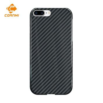 CORNMI Real Carbon Fiber Case For iPhone 8 Plus Cover 5.5 inch Phone Case Luxury Ultra Thin Back Shell Housing
