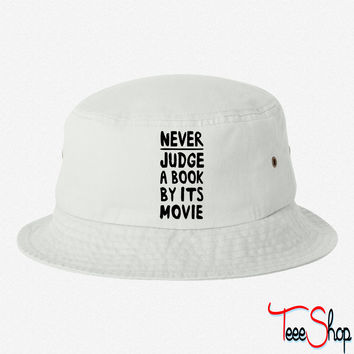Never Judge a Book by its Movie bucket hat