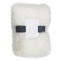Threshold™ White Faux Mongolia Sheepskin Throw : Target