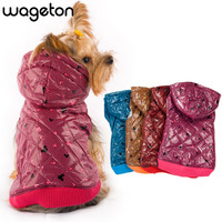 WAGETON fashion dog  designer pet clothing -5 colors