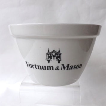 Vintage Kitchen Bowl / British Ironstone Pudding Basin / Fortnum & Mason Cooking Prep Bowl / White Ironstone Mixing Bowl / Cook Chefs Gift