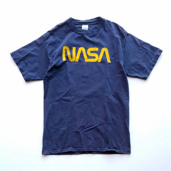 Oversized NASA T-Shirt, Thrashed Tee, Soft Grunge, NASA Space Shuttle, Vintage Space Tee, 90s T-Shirt, Soft Grunge Shirt, Marvin The Martian