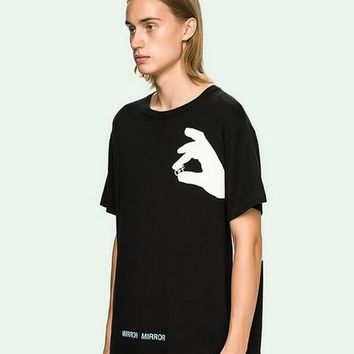 Off White t shirt men Skateboards men T-shirt Summer Clothing Hip-hop Cotton Short Sleeve T shirt Tees
