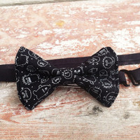 Halloween Ahh Monsters Adjustable Strap bow Tie Adult