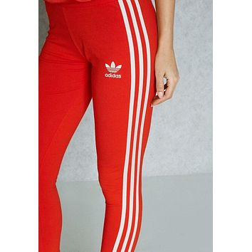charmvip adidas originals fashion red running leggings sweatpants