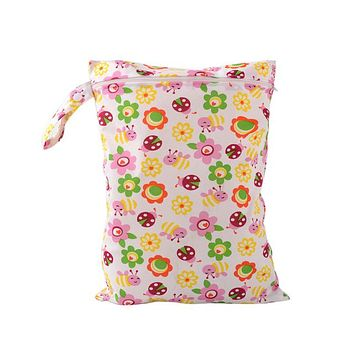 Organizers / Bags - Free Shipping - Waterproof / Reusable / Washable Tote Bag - Flowers / Ladybugs