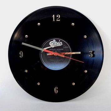 Michael Jackson Vinyl Record Wall Clock Off The Wall By Recordsandstuff
