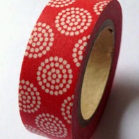Washi Tape - Red and White Dots Washi Masking Tape