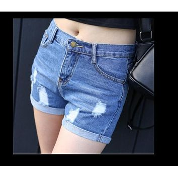 High Waist Denim Shorts Plus Size XL Female Short Jeans for Women 2017 Summer Ladies Hot Shorts