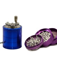 Skull Emblem Handle Herb Grinder comes w/ Metal Pipe