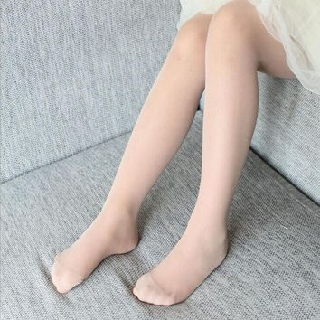 15D summer Children pantyhose Anti - mosquito stockings girls pantyhose Anti-snagging tights  even foot pantyhose