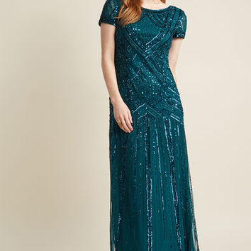 Adrianna Papell Sequined Vision Maxi Dress