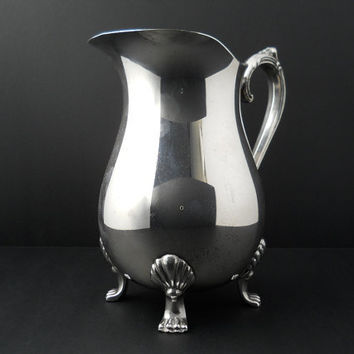 Leonard Pitcher Ice Guard Silver Plate Footed Vintage c1970s