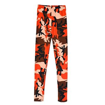 Fashion Novelty Polyester Material Women Slim Colorful Print Punk Funky Stretch Pencil Tights Pants Trousers vicky