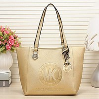 MK Women Shopping Bag Leather Satchel Crossbody Handbag Shoulder Bag Golden I-MYJSY-BB