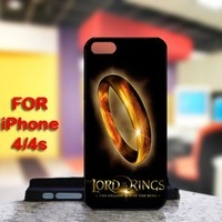 The Lord of the Rings Fellowship For IPhone 4 or 4S Black Case Cover
