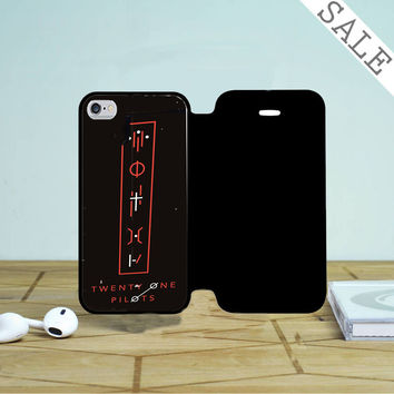 Twenty One Pilots Tattoo Symbol iPhone 4 |4S Flip Case
