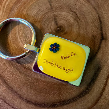 Climb Like A Girl Key Ring by Design4Soul