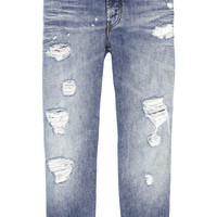 Acne Studios | Generic Girl Ripped mid-rise jeans | NET-A-PORTER.COM