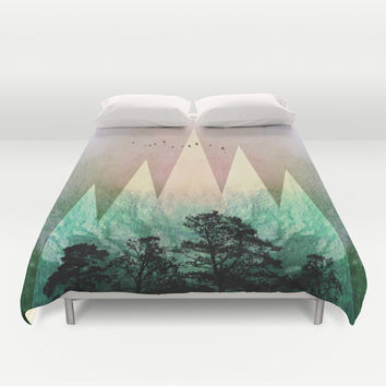 TREES under MAGIC MOUNTAINS IV Duvet Cover by Pia Schneider [atelier COLOUR-VISION]