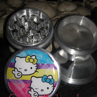 Hello Kitty Peace Sign 4 Piece Grinder Herb Spice Aluminum C.N.C from Cognitive Fashioned