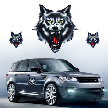 New Wolf Head Decal Vinyl Funny Sticker fit for Motorcycle Motorbike Car Truck Helmet And All The Smooth Surface