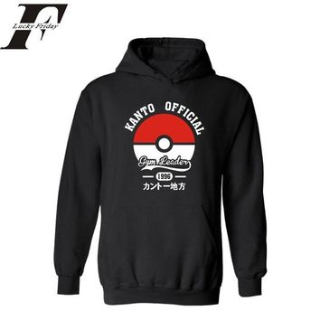 Poke Ball in  Go Style Hooded Hoodies Men&women  Street in Anime Pocket Monster Mens Hoodies and Sweatshirts StreetswearKawaii Pokemon go  AT_89_9