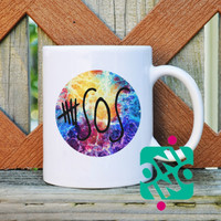 5 SOS Logo Galaxy Coffee Mug, Ceramic Mug, Unique Coffee Mug Gift Coffee
