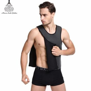 ac VLXC Slimming Vest Neoprene Shaper Men Slimming Belt Body Shaper Corset Posture Waist Trainer Trainer Corsets Sportes Hot Shapers