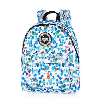 River Island MensWhite Hype watercolor backpack