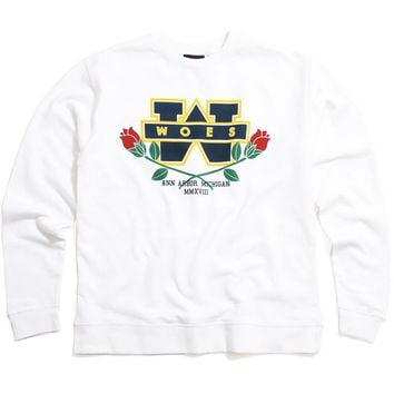 Woes Bowl Crewneck Sweatshirt White