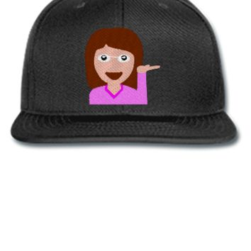 emoji girl hand left png Bucket Hat - Snapback Hat